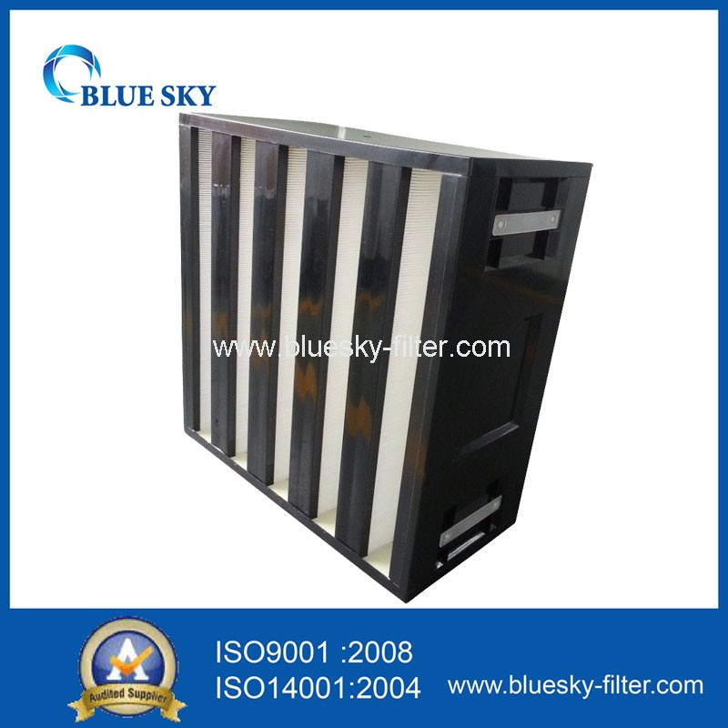 High Efficiency V-bank Shape HVAC System Hepa Air Filter