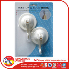 plastic suction cup hook strong sucker suction pad hanger with lock