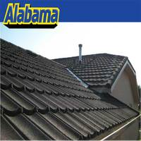 Superior reputation guarantee natural color sand coated steel roof tile, galvanized aluminum roof truss