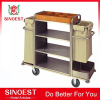 Housekeeping cleaning trolley hotel maid cart