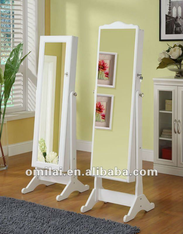 Mirror Jewelry Cabinet Rotating Mirror Jewelry Armoire
