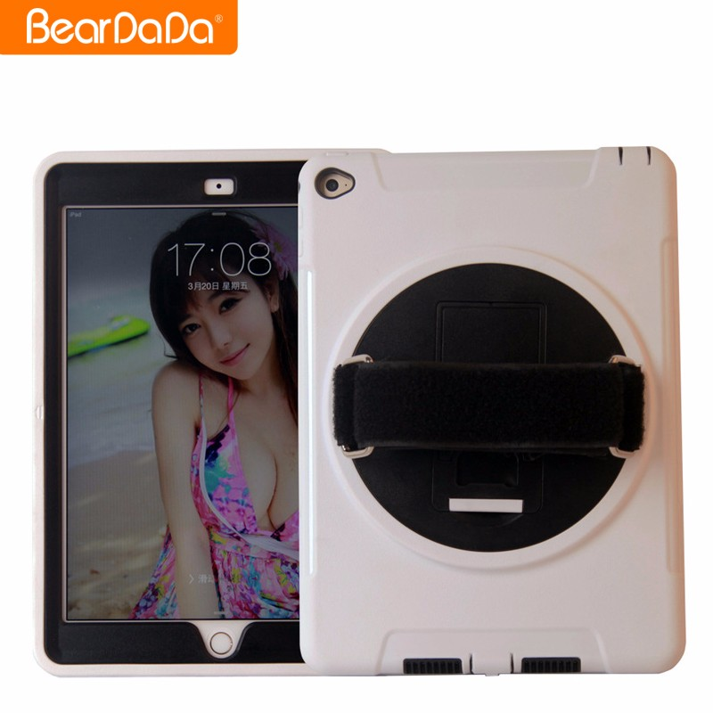 Top Quality 360 Degree Rotating hand strap case cover for ipad air 2