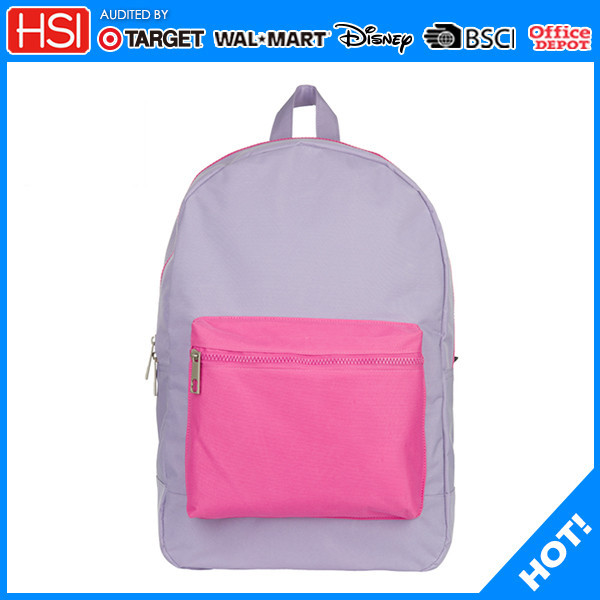 2016 new products wholesale price 600D bag laptop backpack for girl