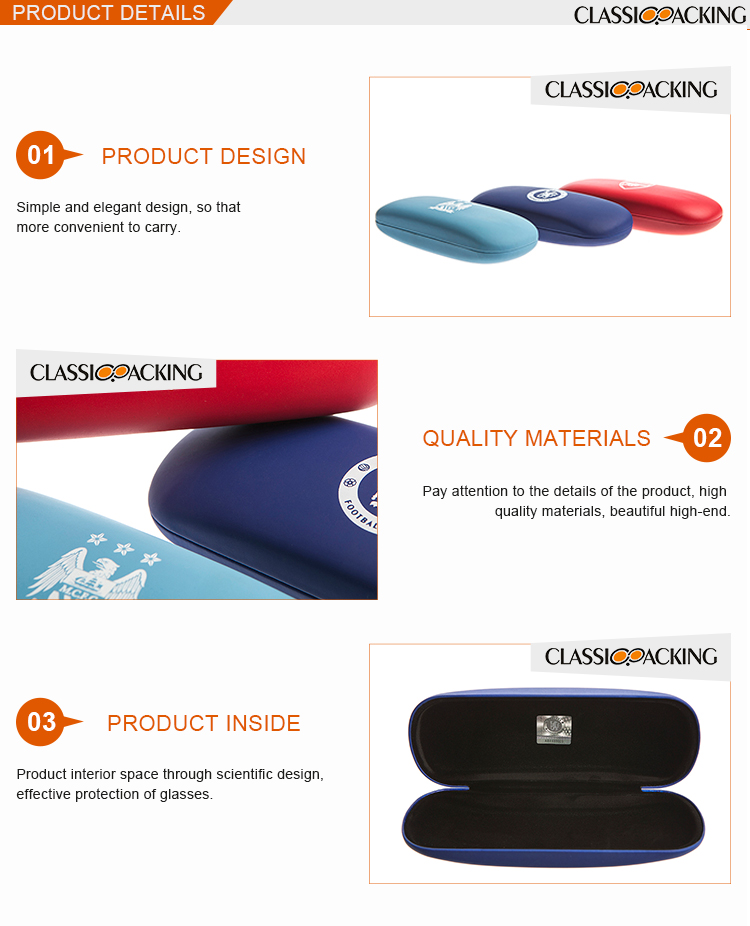 New design glasses case wholesale eyeglass case