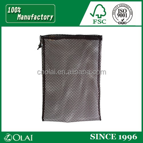 Durable small mesh bag for battery with string,mesh bag for oranges,small mesh gift bags