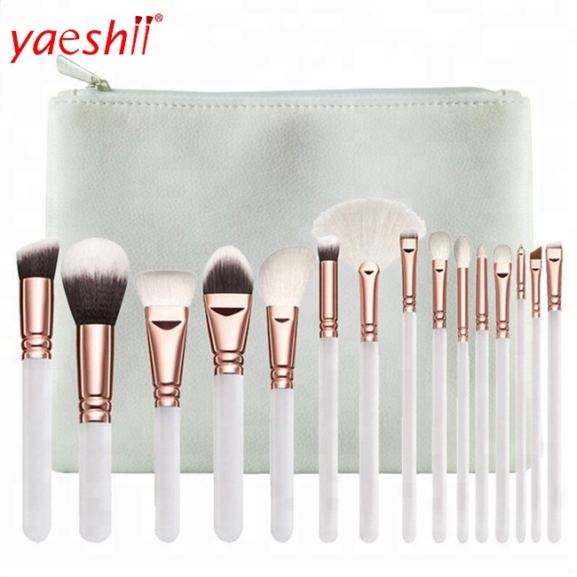Yaeshii <strong>beauty</strong> 15pcs foundation synthetic vegan high quality kit travel new wholesale private label make-up cosmetic brushes set