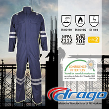 Oil field high tear strength cotton nylon reflective fireproof coverall