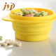 Food safe silicone travel collapsible portable dog bowl
