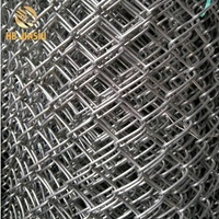 PVC Coated Diamond Shape Wire Mesh Sportsfield Chain Link Fence