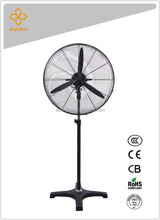30 inch full metal big power 3-blade workshop/warehouse industrial stand fan w/ sealed copper motor