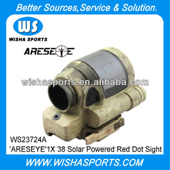 'ARESEYE' 1X 38 Solar Powered Red Dot Sight Scope