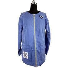 Best selling high end spring coats clothing womens parka blue jacket