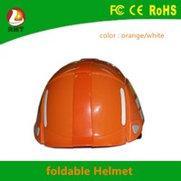 PP+ABS materials good quality and low price safty helmet motorcycle half face folding helmet for Korea