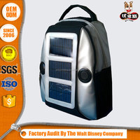 Fashional Solar School backpack Bag with speaker