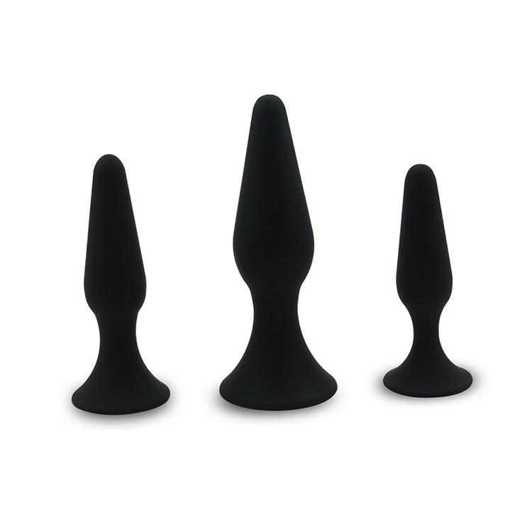 Fou de Vente De Haute Qualité Trois Tailles Silicone Anal Sex Toys Anal Plug, vagin En Silicone Énorme Butt Plug Gay Anal Jouet