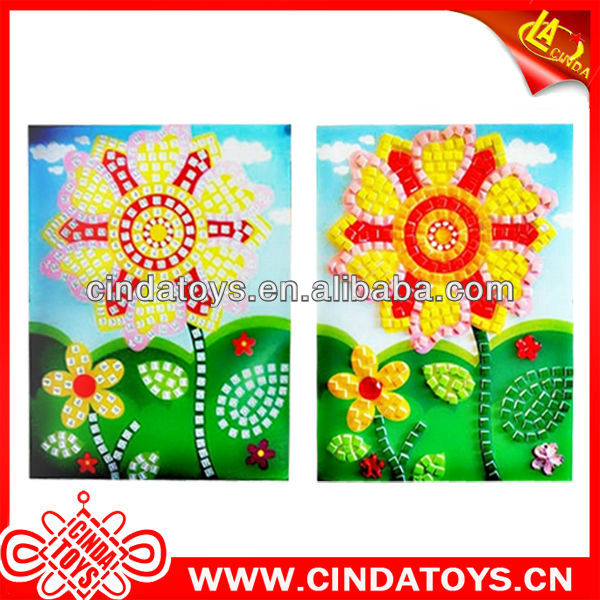 Novel flower kid 4D diy educational puzzles