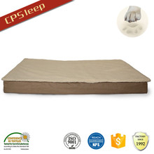 Shu velveteen waterproof memory foam pet bed