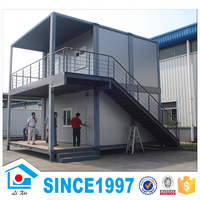 Factory Directly Sell Office Use Light Steel Prefab Duplex House