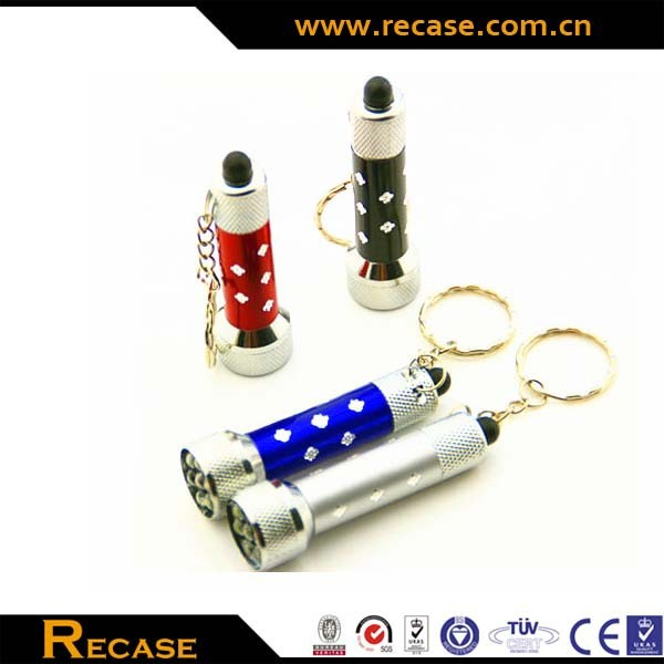 keychain 3-led aluminum flashlight, led keychain promotional gift Key Ring Light