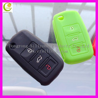 Reliable good quality matte surface silicone rubber remote car key promotional key cases for honda/buick/nissian/vw/ford/bmw