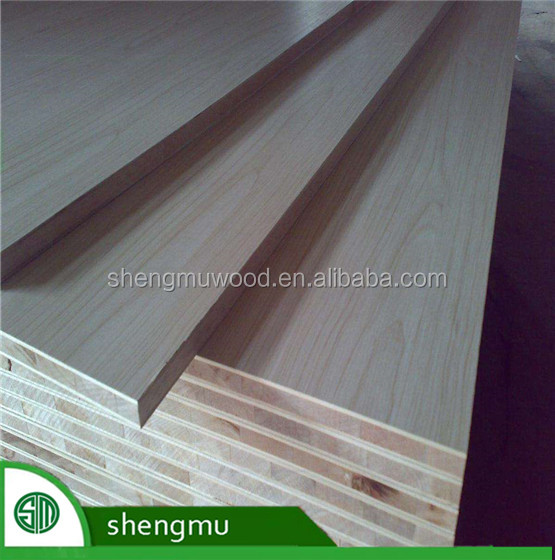 E1 grade veneer faced block board furniture use melamine faced block board