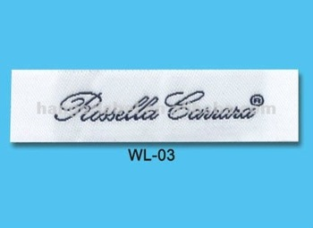 woven brand label, garment woven brand label