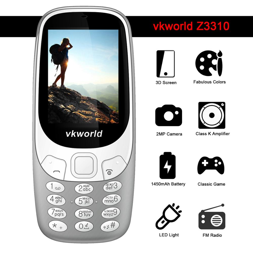 Vkworld 3310 Mobile Phone 2.4inch Low Price China Mobile Phone Dual SIM