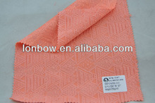 Jacquard cotton polyester spandex fabric