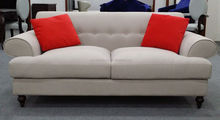 soft upholstered sofa with red cushion XYN2466