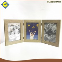 Hot sale fold souvenir chinese style wood carved picture photo frames