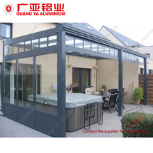 High quality portable tempered glass house roof aluminum sunroom for sale