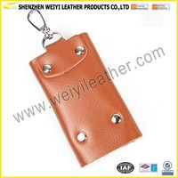 Genuine Leather Vintage Waistcoat Car Key Chains Rings Cases Key Holder Bag