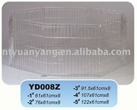 folding zinc metal wire dog enclosure eight panels China manufacturer