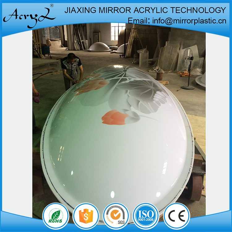 Hot Sale JiaXing large clear plastic acrylic dome