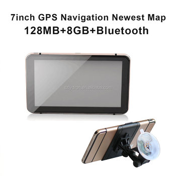 Bluetooth Maps AV IN MP3 MP4 FMT Ebook 7inch Wince Truck GPS Navigation