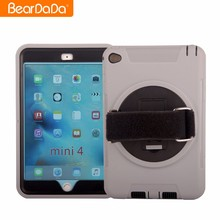 Top Quality 360 Degree Rotating hand strap case for ipad mini 4