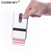 High quality rfid blocking pop up metal credit card holder aluminium wallet