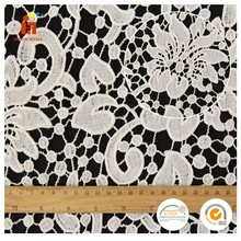 2017 embroidered chemical african guipure lace water soluble lace fabric for bridal gown