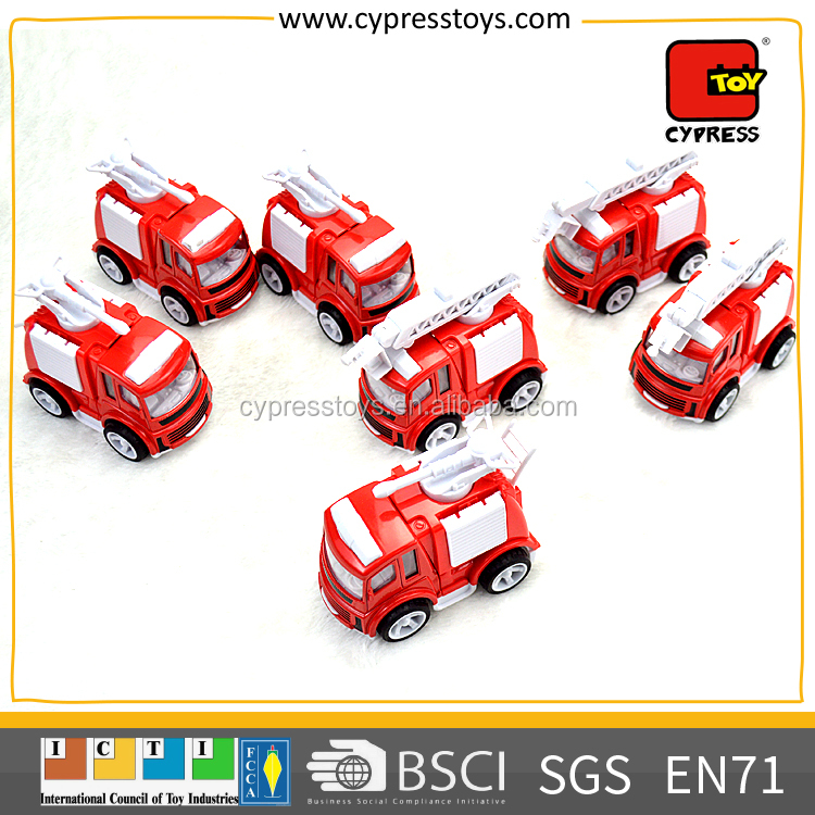 The Fire fighting Truck Red Diecast Model Mini Metal Car Toy