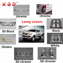 Auto lighting accessories chromed full kit lamp covers for hilux vigo