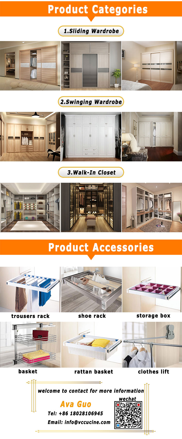 Eco-Friendly modern high gloss clothes wardrobe closet