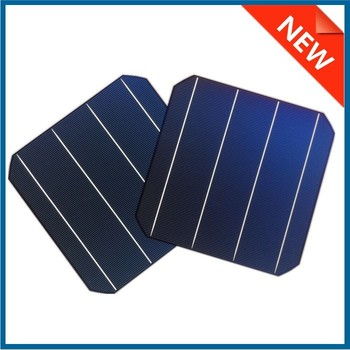 6x6 inch high efficiency A grade 3BB/4BB monocrystalline solar cell made in Taiwan