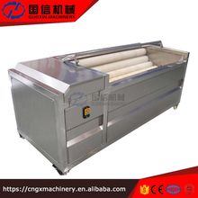 Large production potato washing peeling machine/industrial vegetable washer