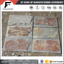 Chinese good quality stone tiles products rusty color culture mushroom slate