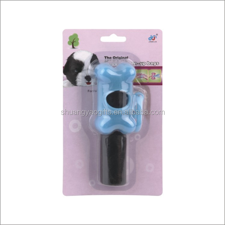 Plastic dog dispenser +2rolls waste bags pet garbage bags with case dog black poop bag with holder