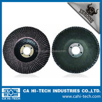 Angle grinder mounted Fiber glass backing Calcined Flat Flap Disc