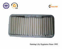 disposable nonwoven airline face towels with tray and tong