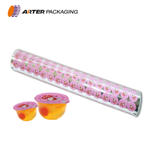 custom printing pet metalized peelable plastic pp cup jelly lidding sealing film rolls for jelly cup