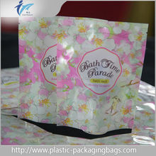 custom matte foil plastic stand up candy packaging bag with tear notches wholesale
