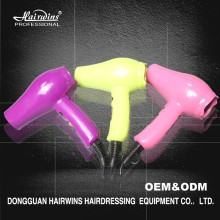 Colorful best professional salon mini travel hair dryer with diffuser comb for hotel bathroom manufacturing